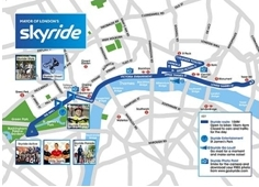 Skyride 2009 route map on lambethcyclists.org.uk