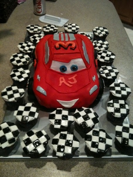 Jilly S Takes The Cake Lightning Mcqueen And Checkered