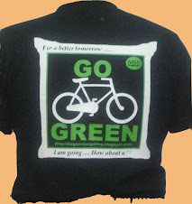 Go Green T-shirt rear side