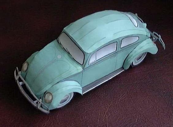 Volkswagen Beetle Papercraft 2 Papercraft Paradise