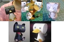 animal finger puppet papercraft