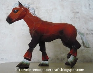 Legend of Zelda Epona Papercraft