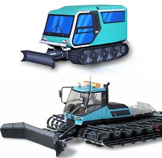 snow mobile papercrafts