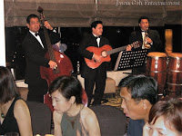 Wedding Singers & Live Band performing during the dinner