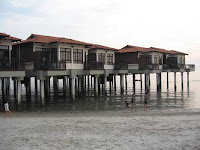 The beautiful chalets at Avillion hotel, Port Dickson where the wedding reception was held