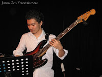 The bass player in the live band