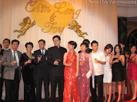 Chin Leng, Ivy and family toasting with their guest