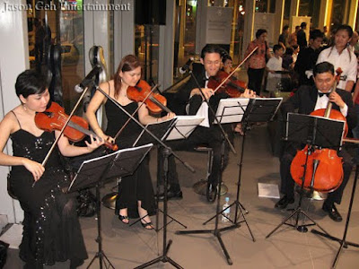 Jason Geh String Quartet performing live at the launch