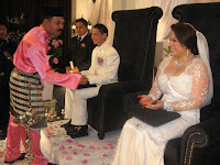 The wedding couple's Merinjis ceremony