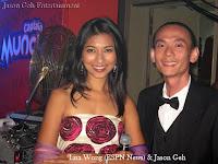 Lisa Wong of ESPN News with Jason Geh from Jason Geh Entertainment