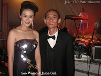 Beauty Queen turned singer Soo Wincci with Jason Geh at the backstage