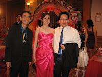 Jason Geh with newly weds Mark and Chui Yin