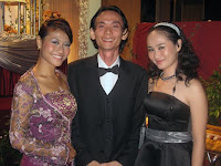 Jason Geh flanked by Anita(the emcee) and Nor(coordinator)