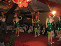 The dancers performing