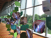 The decorations and photos at IGEM's dinner event