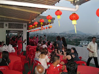 At the top of the Hing Yiap building where the annual dinner was held