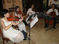 String Quartet performing LIVE during the exclusive performance