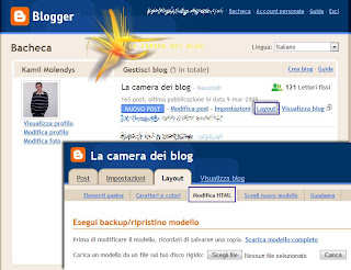 modifica html blogger