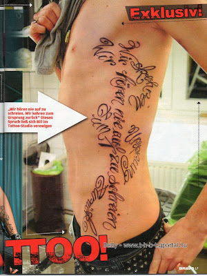 juguete para hacer tatuajes. revista tatuaje. Tokio Hotel KSL: La revista Bravo habla del nuevo tattoo de Bill; del tatuaje de Bill, - Tokio Hotel KSL: La revista Bravo habla del nuevo