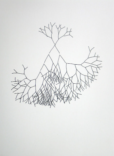 Sneafellsness After Vern After Horn, 2008, ink on paper
