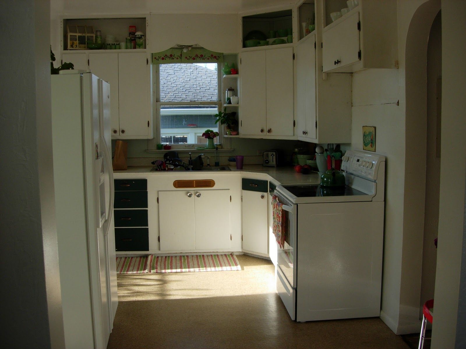 cottage kitchen: before and almost after