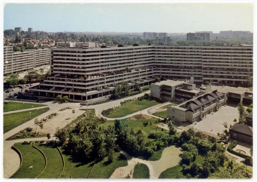 Architectures de cartes postales 1 massy banlieue pingl e - Massy centre commercial ...