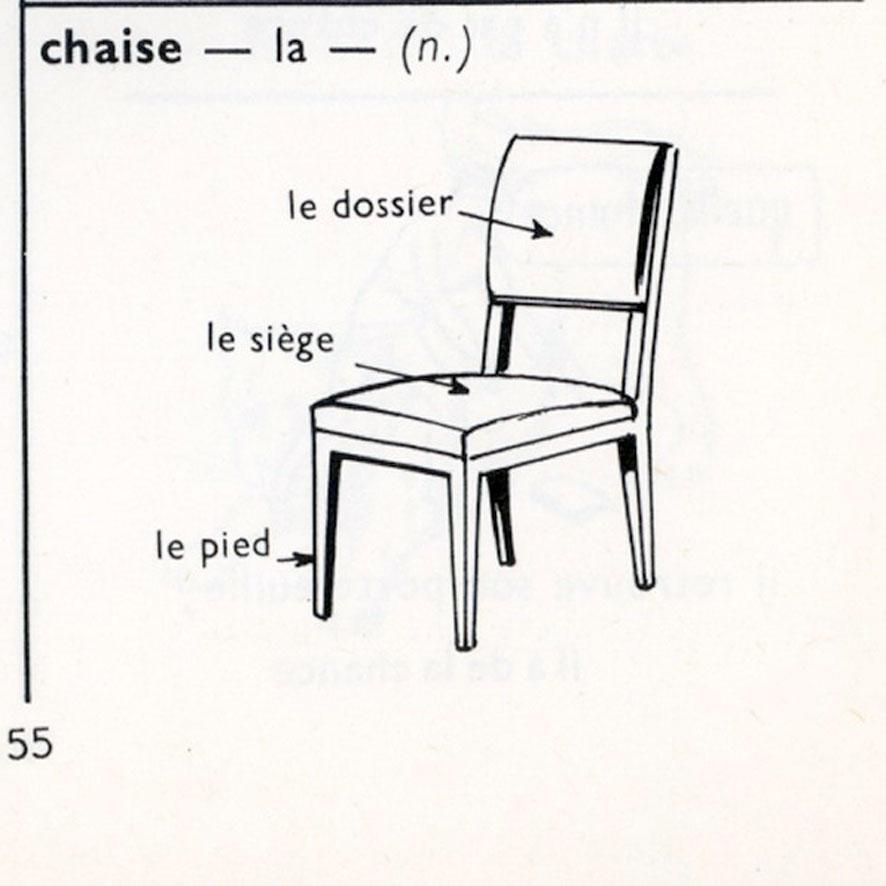 Comme une chaise posée contre un mur avec à sa gauche sa propre photographie et à sa droite la définition du mot chaise.  sc 1 st  Larousse Liaudet lithographie - blogger : definition chaise - Sectionals, Sofas & Couches