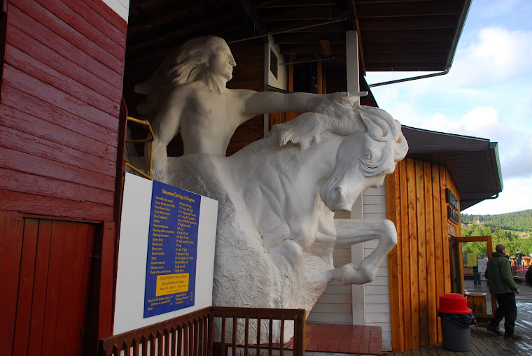 Model of Crazy Horse (What it will look like when finished.