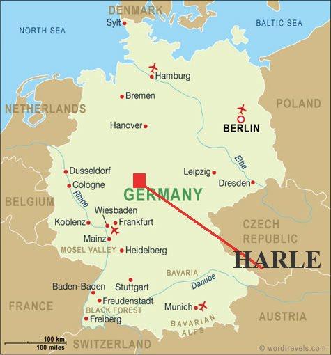 Flat Stanley MHS Harle Germany - Germany map kassel