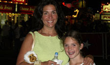 Christine O'Connor and her daughter at the 2007 Mount Olive Carnival
