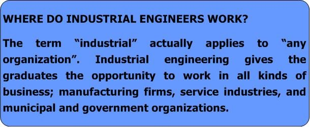 what does an industrial engineer do