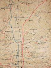 Mapa de Estrada em Pano - Localização - Escoural
