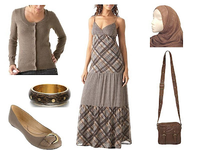 maxi dress with cardigan. Lightweight cardigan, Promod