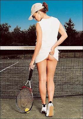 Kyle Minogue tennis girl bum ass
