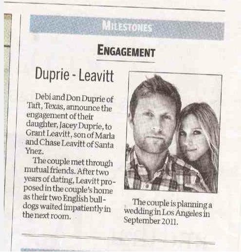 Newspaper Engagement Announcement Templates Idealstalist