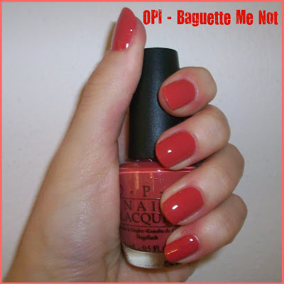 Swatch: OPI No.F22 BAGUETTE ME NOT