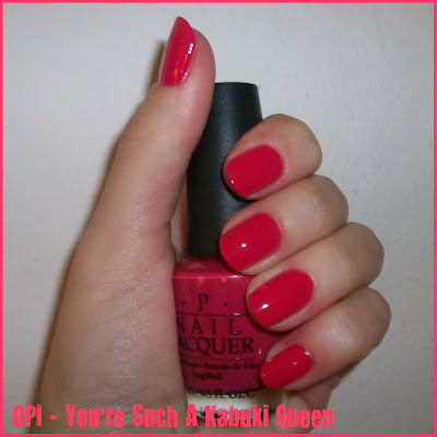 Swatch: OPI No.J01 YOU'RE SUCH A KABUKI QUEEN
