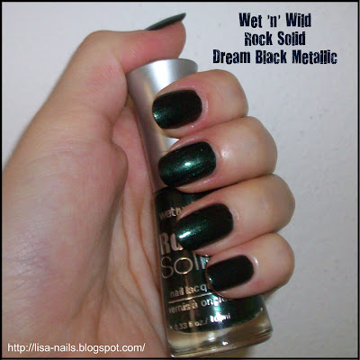 Swatch: Wet 'n' Wild Rock Solid DREAM BLACK METALLIC