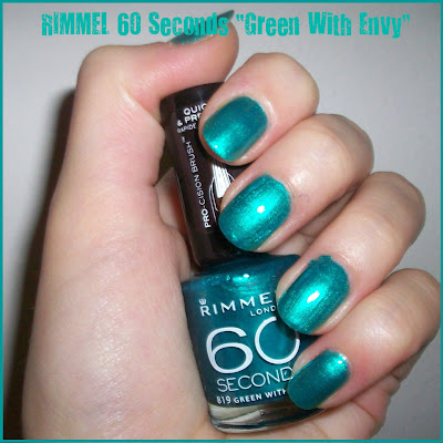 "Swatch: RIMMEL 60 Seconds No. 819 ""Green With Envy"""