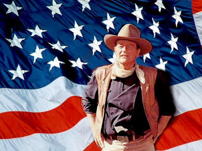 JOHN WAYNE AMERICAN FLAG