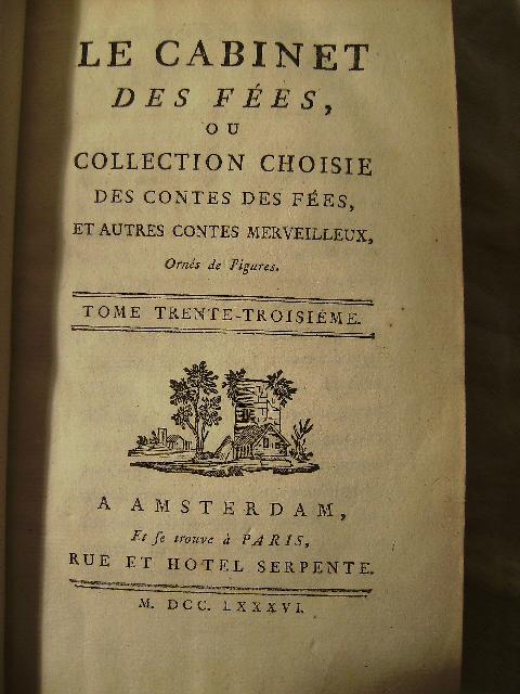 livre ancien XVIIIem LE CABINET DES FEES ou COLLECTION CHOISIE DE ...