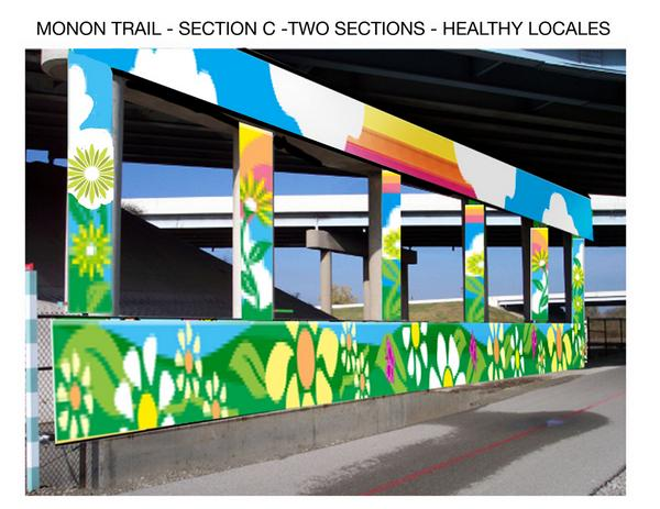 Monon Trail- secyion C - Two sections- Healthy Locales 4/22/08