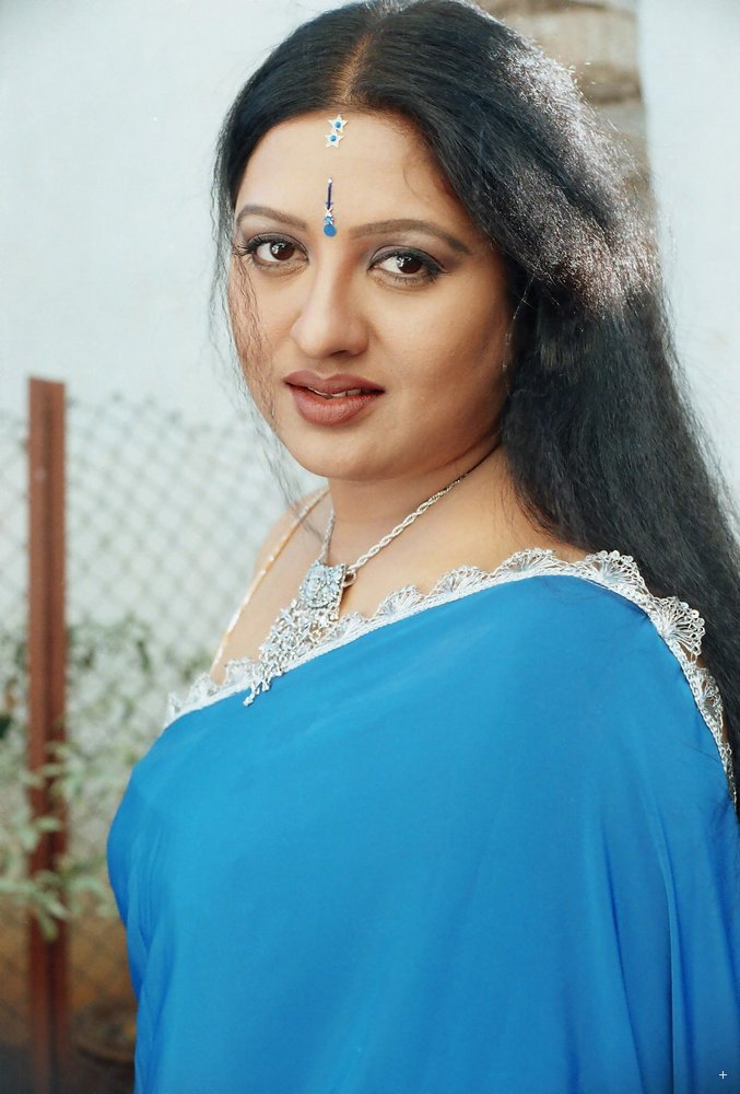 Actress Sana Exposed In Blue Transparent Saree Strapless Without Bra