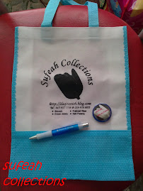 PEN SUFEAH COLLECTIONS, BUTTON BADGE SUFEAH COLLECTIONS DAN WOVEN BAG SUFEAH COLLECTIONS