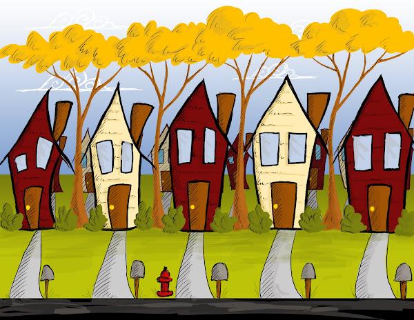 Neighborhood Scene for grad film
