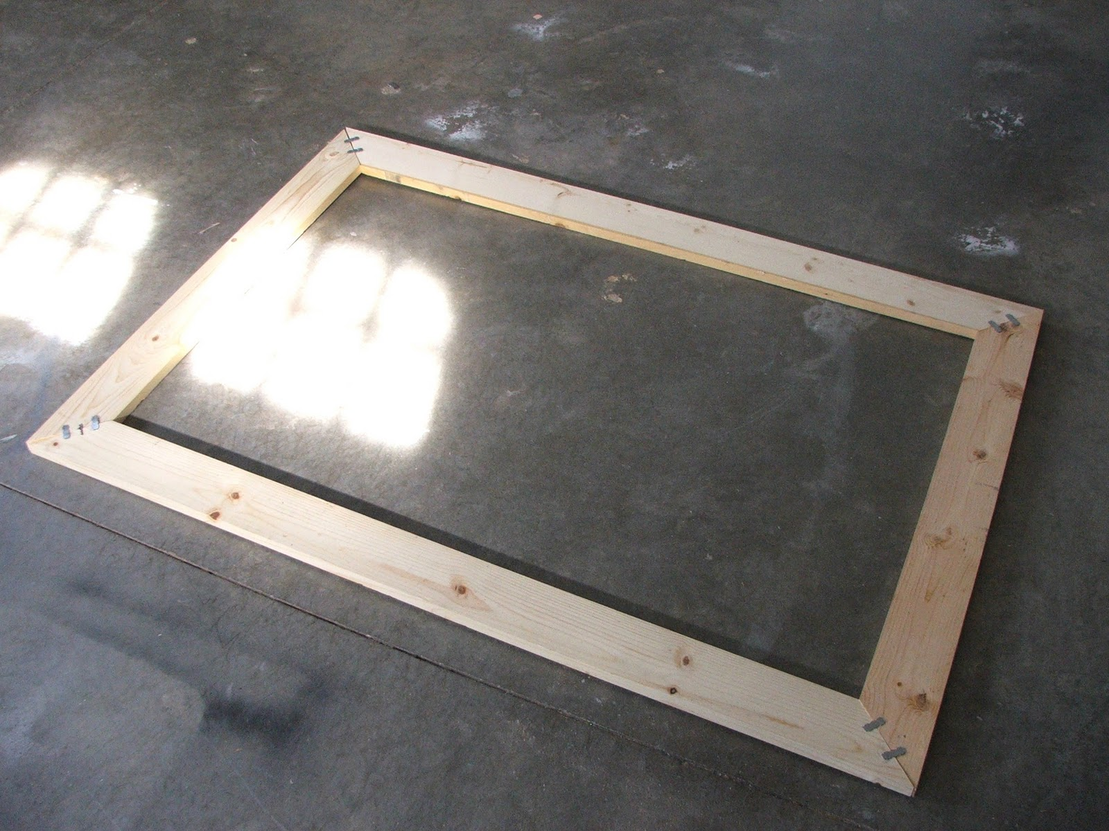 Cheap Large Frames Part - 37: Super Easy To Build And It Has Soooooo Many Uses! My Idea Was To Build A Large  Frame (35 By 54) And Staple The Back With Fabricu2014and Then Place It On My ...