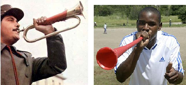 Cornetas e Vuvuzelas
