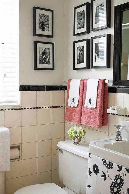 Mirian Decor Vida e Cor ao Banheiro -> Banheiro Decorado Quadros