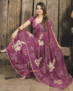 Indian Models in Designer Saree - High Quality Photo