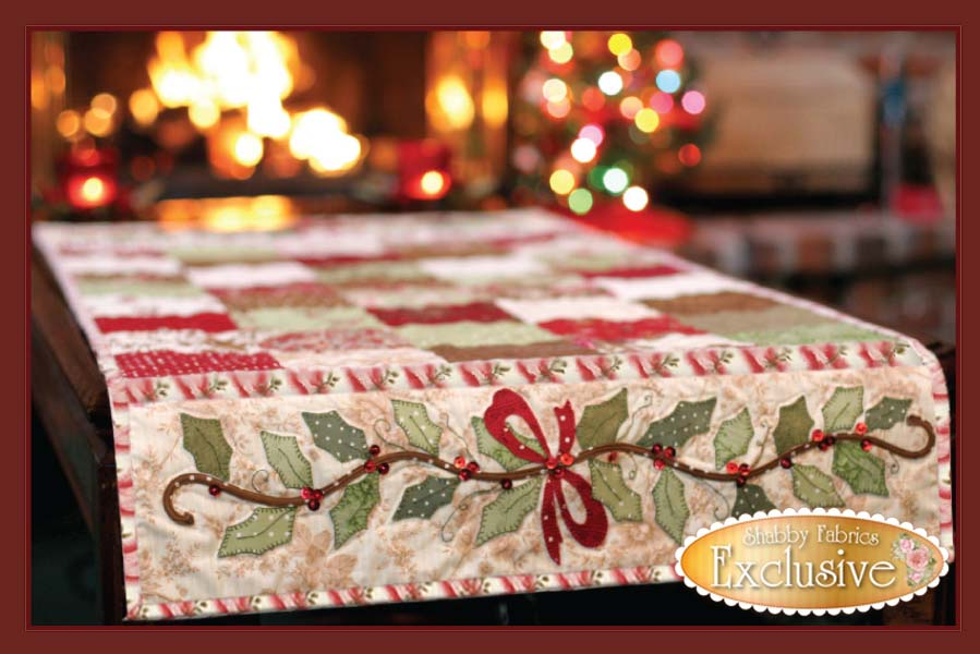 Pattern Table table runner  Quilted patterns applique  Table Pattern Christmas Runner Runner hand